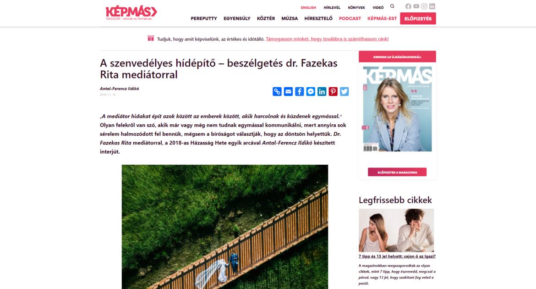 A szenvedélyes hídépítő – beszélgetés dr. Fazekas Rita mediátorral